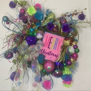 New Colorful Whimsical Unique Christmas Wreath